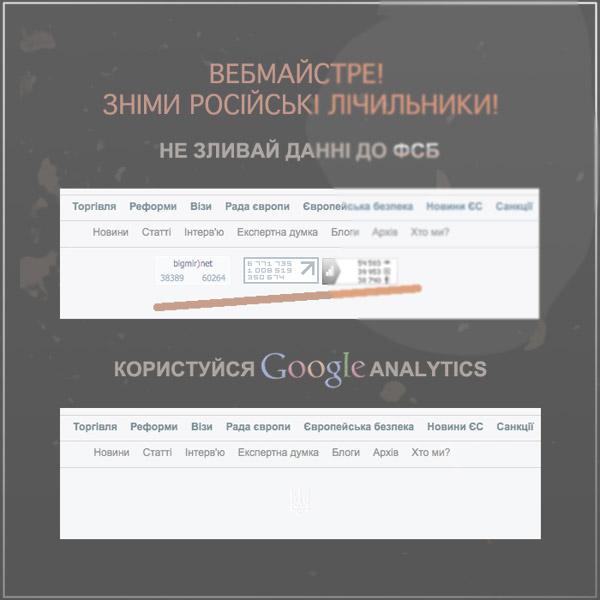 Сними русские счетчики статистики!