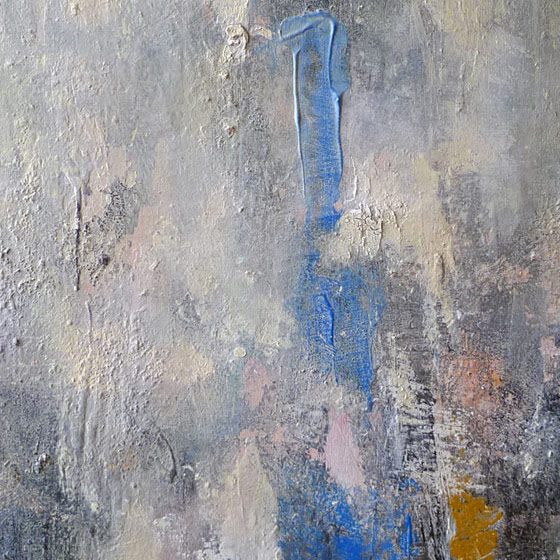 Abstract painting Yu Polch - BlueId